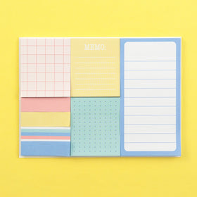 Sticky Note Set, 8 Pack - Multicolor