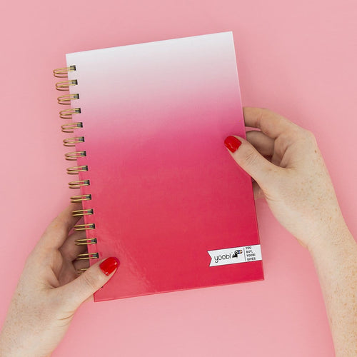 Spiral Notebook - Coral Ombre
