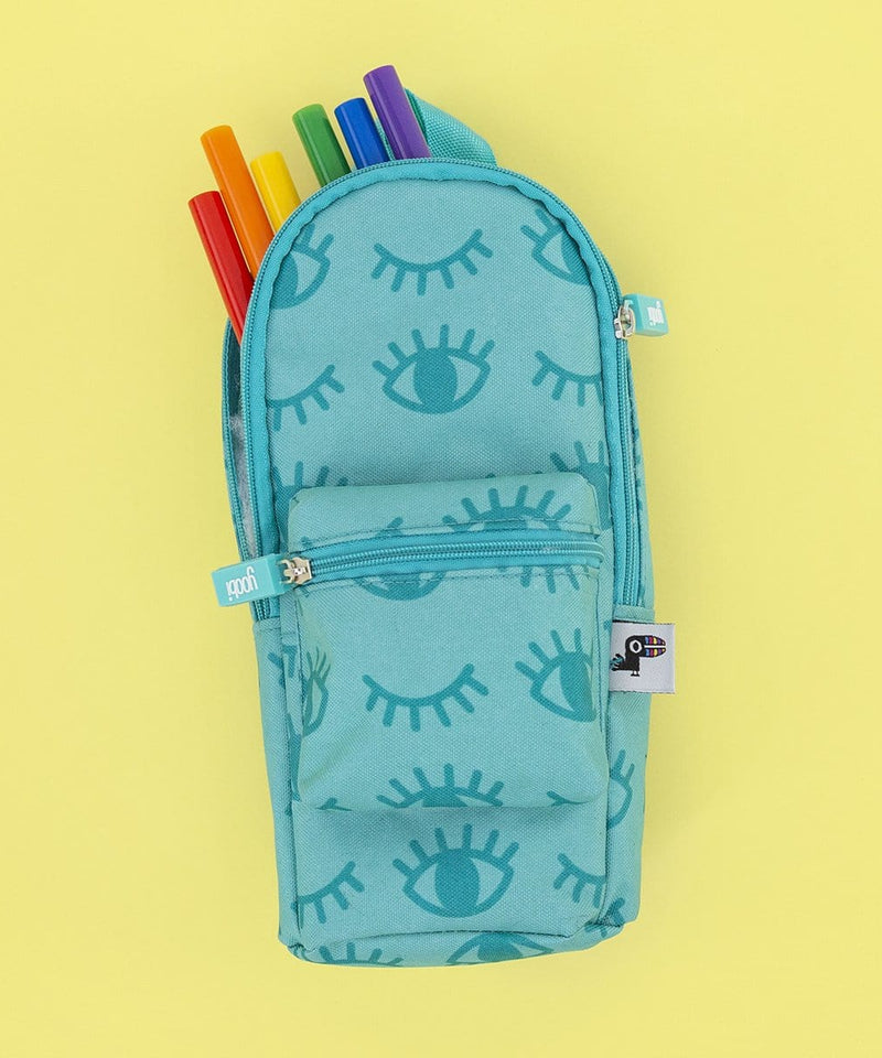 Mini Backpack Pencil Case - Winky Aqua