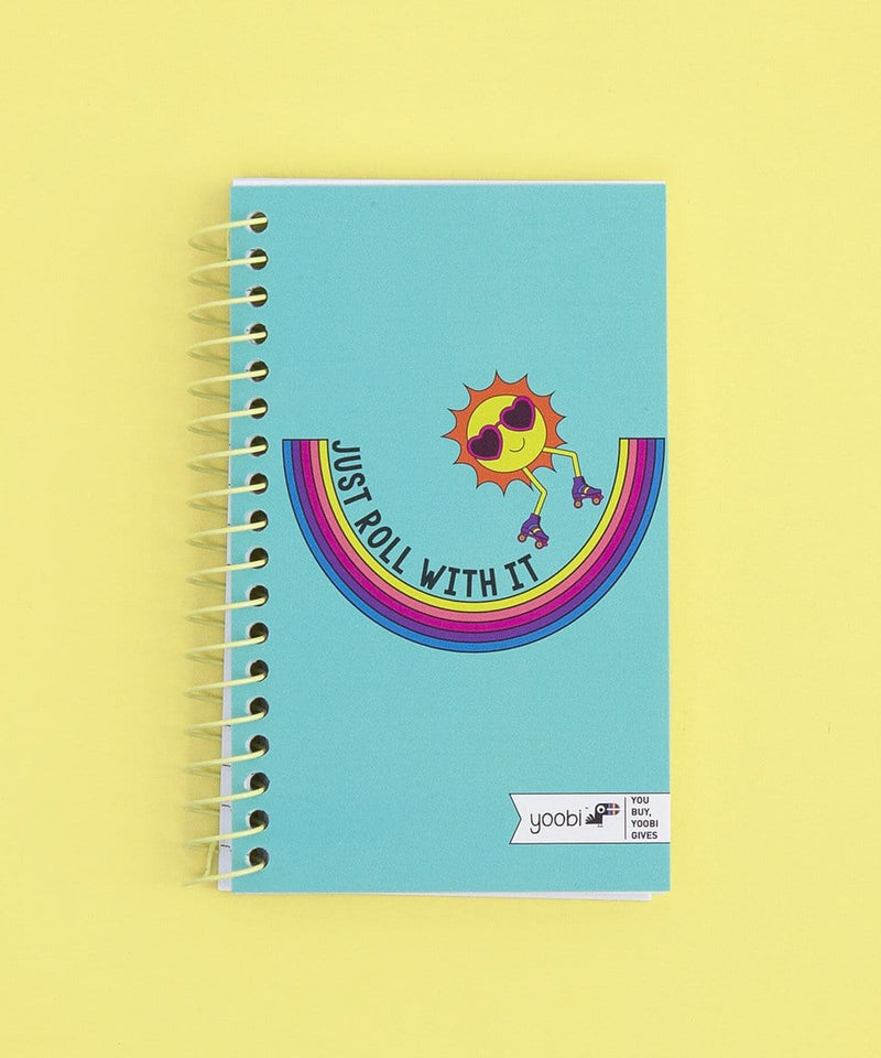 Ultra Mini Spiral Notebook - Just Roll With It
