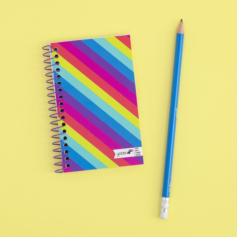 Ultra Mini Spiral Notebook - Rainbow