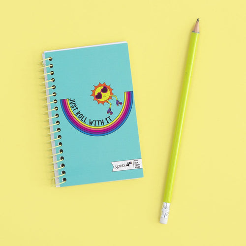 Mini Spiral Notebook - Just Roll With It