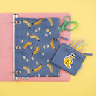 Binder Zip Case + Mini Pouch - Bananas