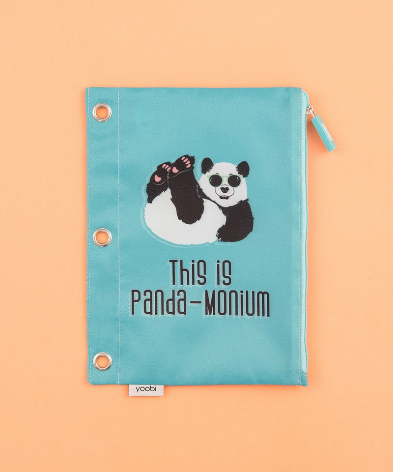 Binder Zip Case - Panda