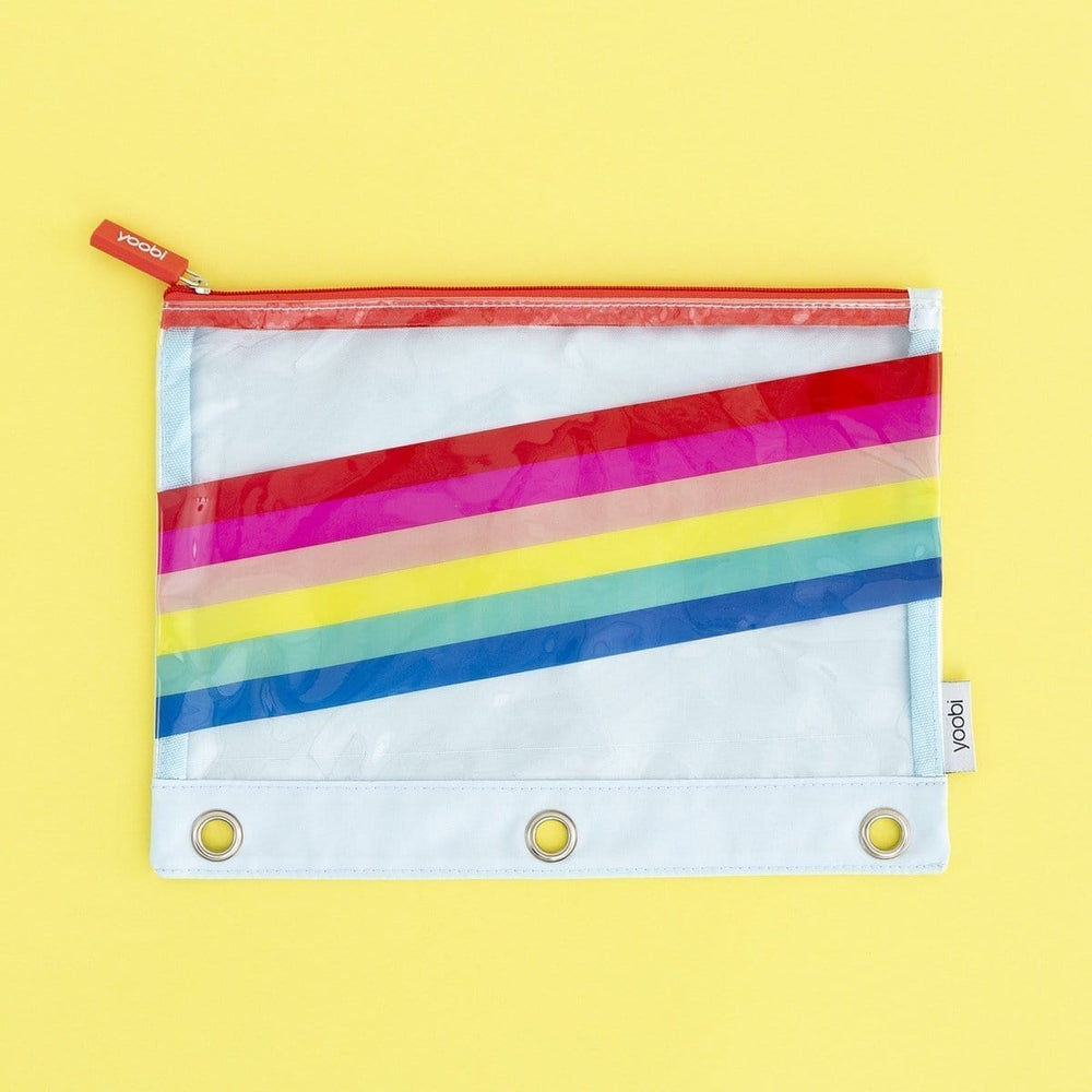 Binder Zip Case - Rainbow Stripe