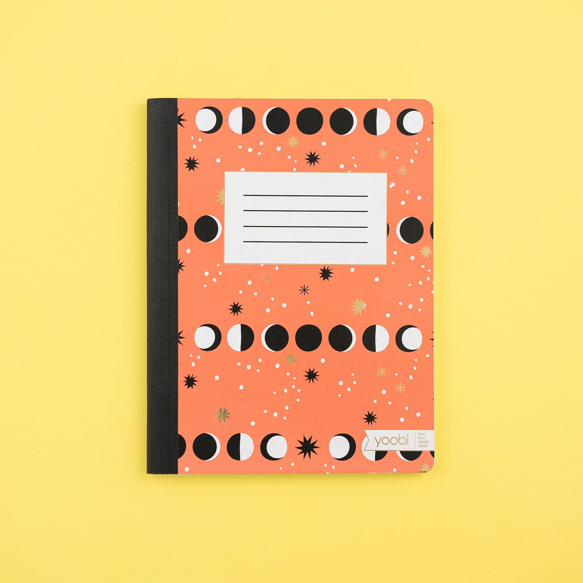Composition Book, College Ruled - Dusty Coral Lunar Phases