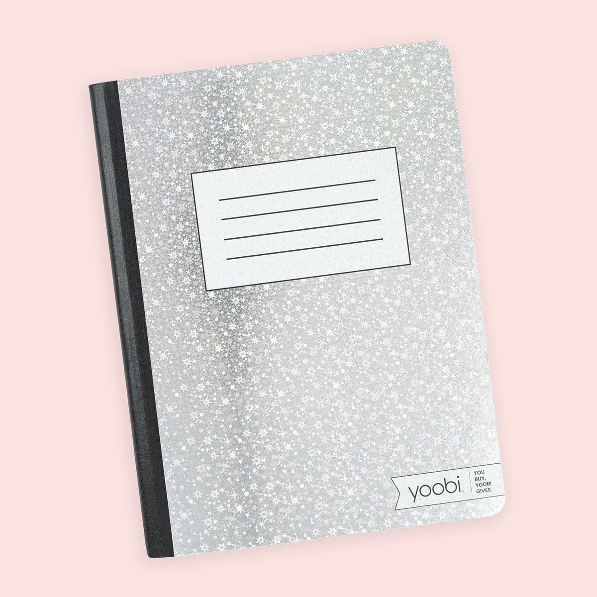 Composition Book, College Ruled - Holographic Stars