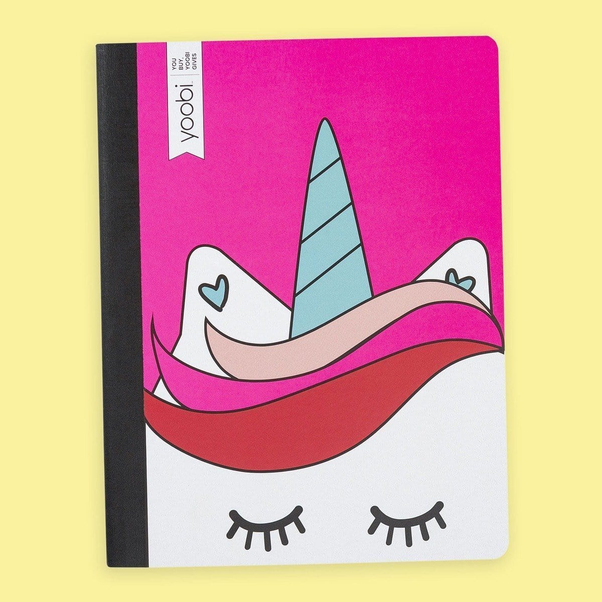 Composition Book, College Ruled - Pink Unicorn