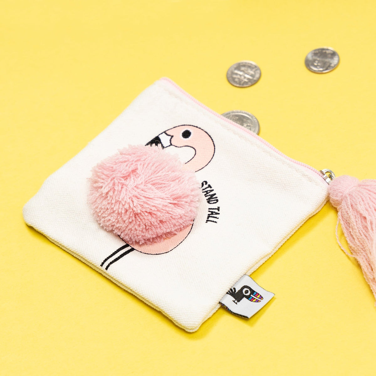 Flat Coin Purse - Flamingo