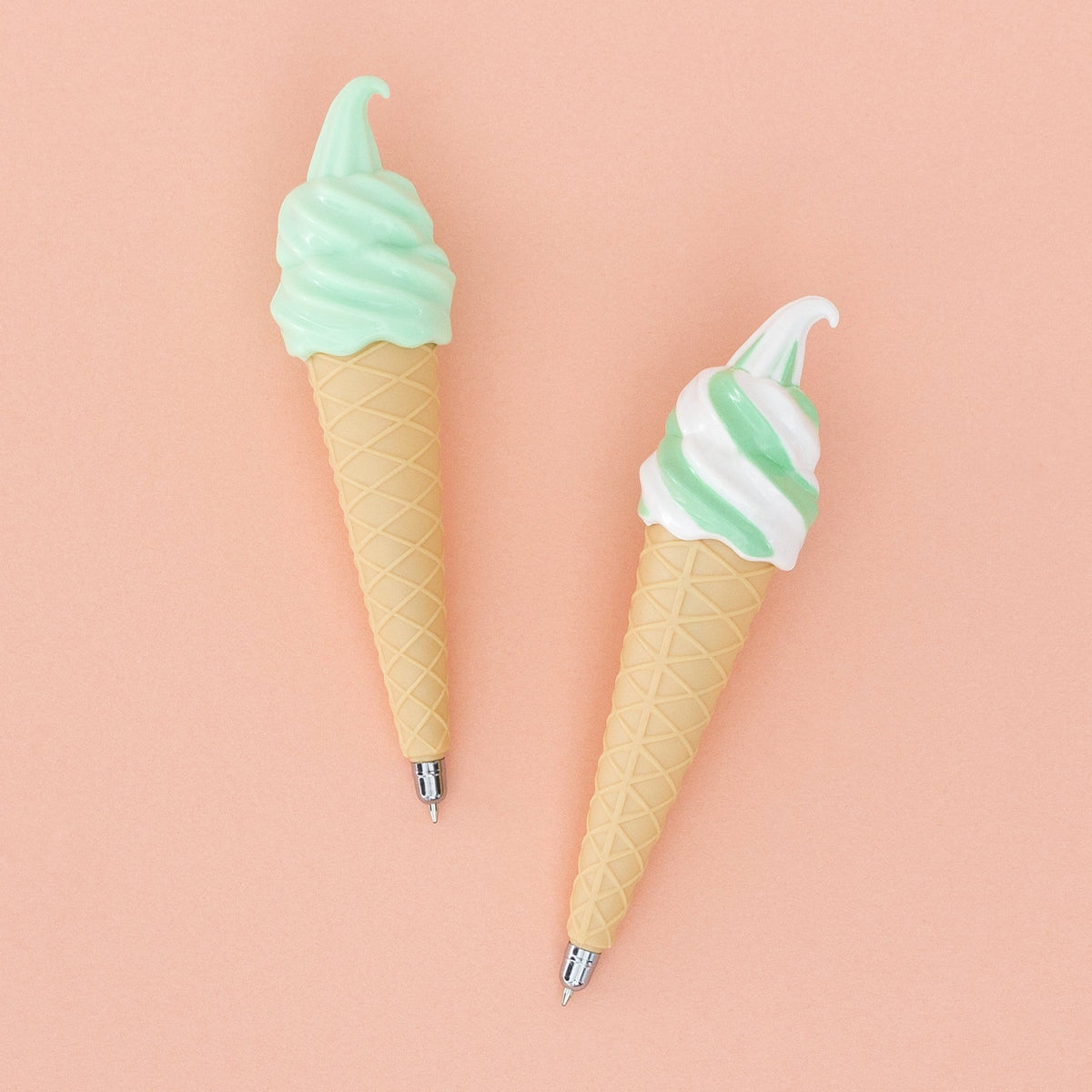 2 Pk Ice Cream Cone Pen - Mint