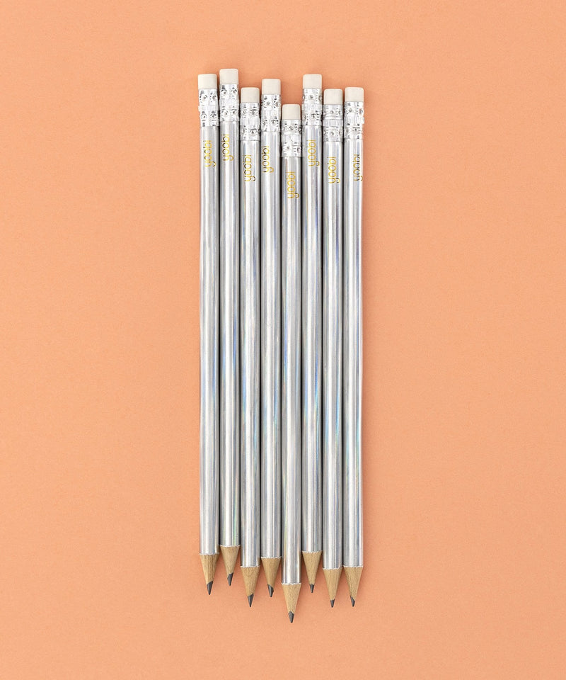 No. 2 Pencils, Round, 8 Pack  - Holographic