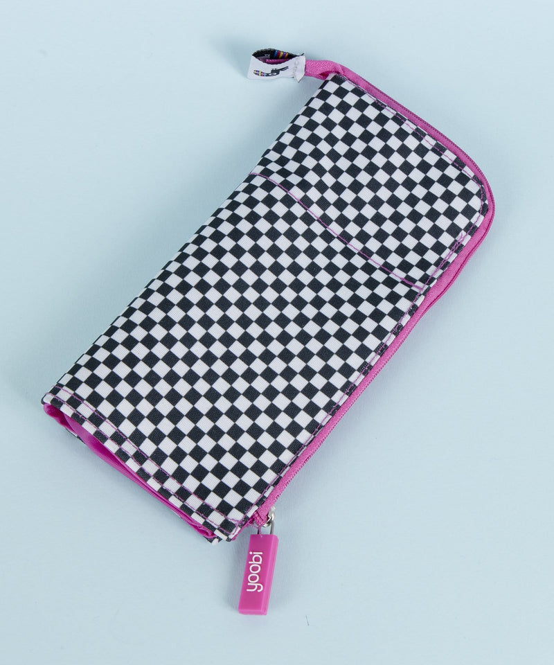 Stand Tall Pencil Case - Black & White Checker