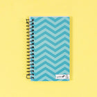 Mini Spiral Notebook - Aqua Chevron