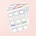 Sticker Labels, 4 Sheets - Multicolor