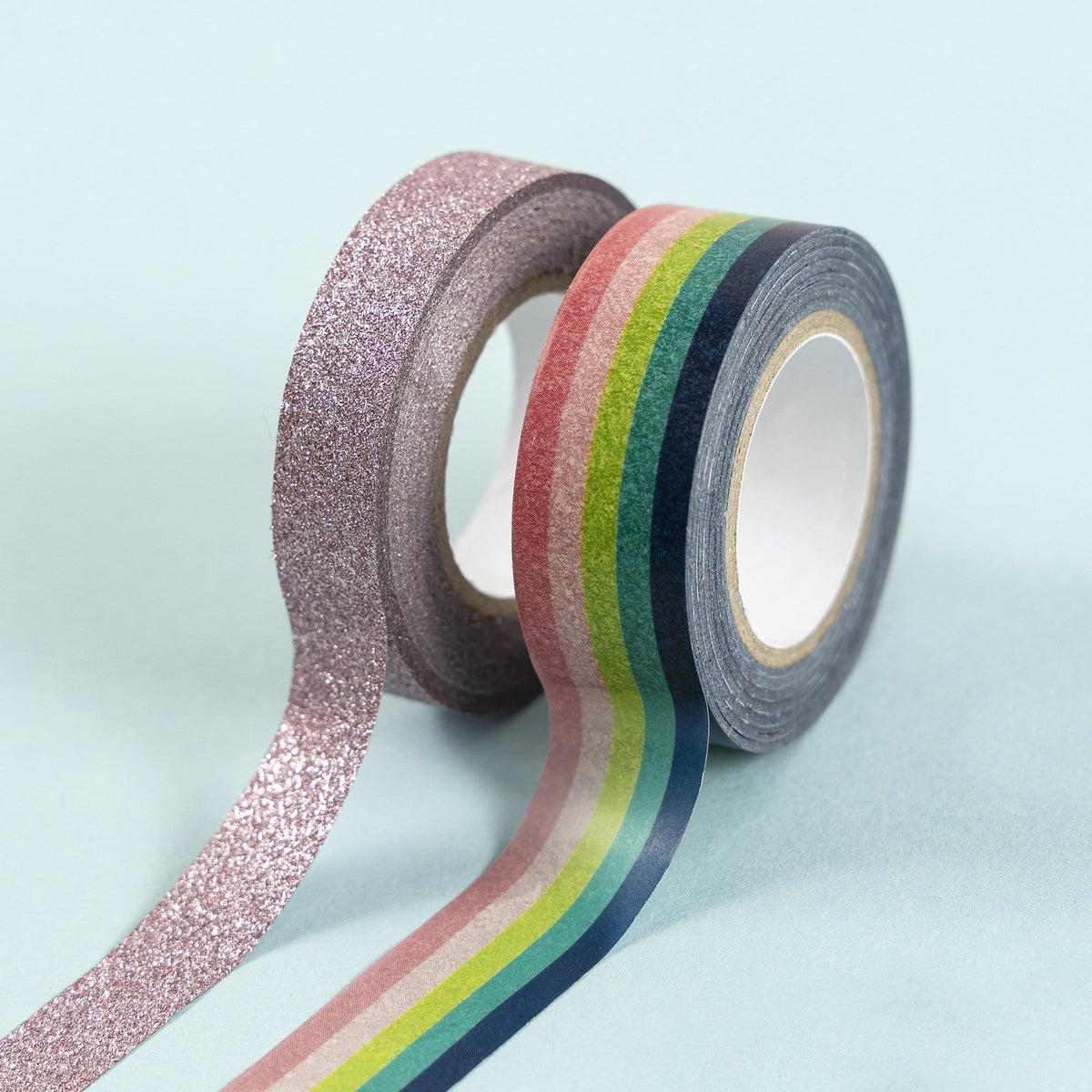 2 Pk Washi Tape - Rainbow and Glitter