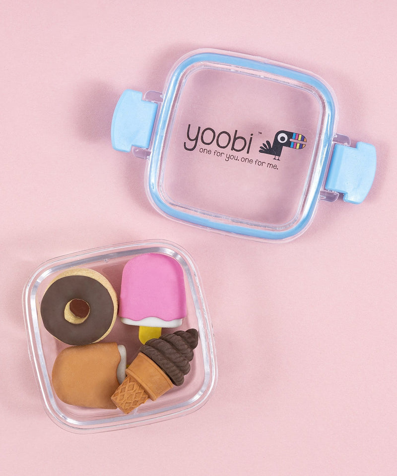 4 Pk 3D Erasers - Blue Sweets