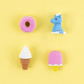 Unicorns Forever 3D Erasers, 4 Pack - Multicolor