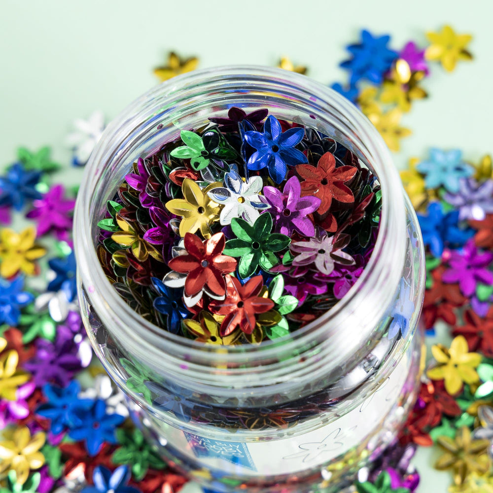 Flower Shape Glitter - Multicolor