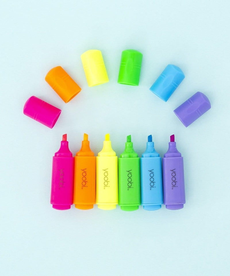 6 Pk Mini Highlighters