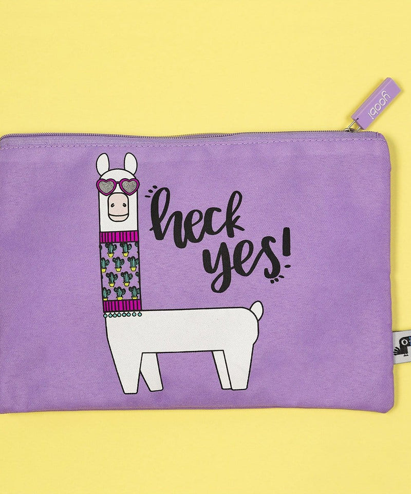 Zip Pouch - Heck Yes Llama
