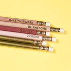 6 Pk No 2 Pencils - Blush Ombre