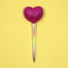 Ballpoint Pen and Topper - Glitter Heart