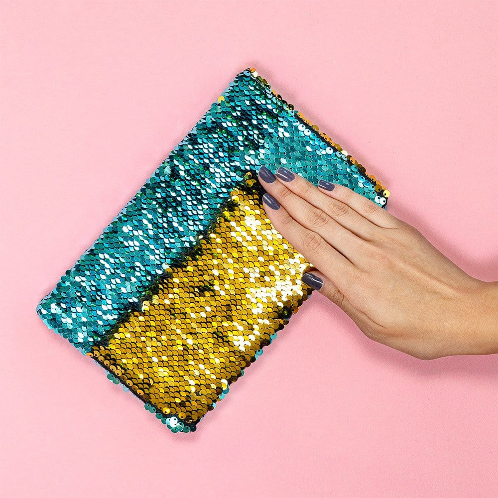 Journal - Aqua and Gold Sequin