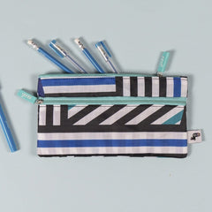 Double Zip Pouch - Crazy Stripe Repeat
