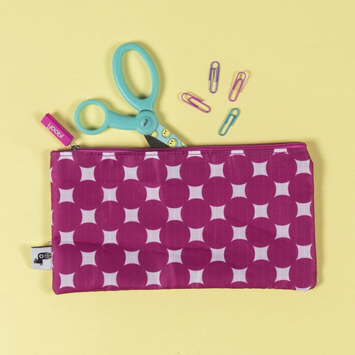 Zip Pouch - Pink Dots