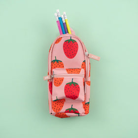 Mini Backpack Pencil Case - Strawberries
