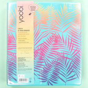 1 Inch Binder - Palm Leaves