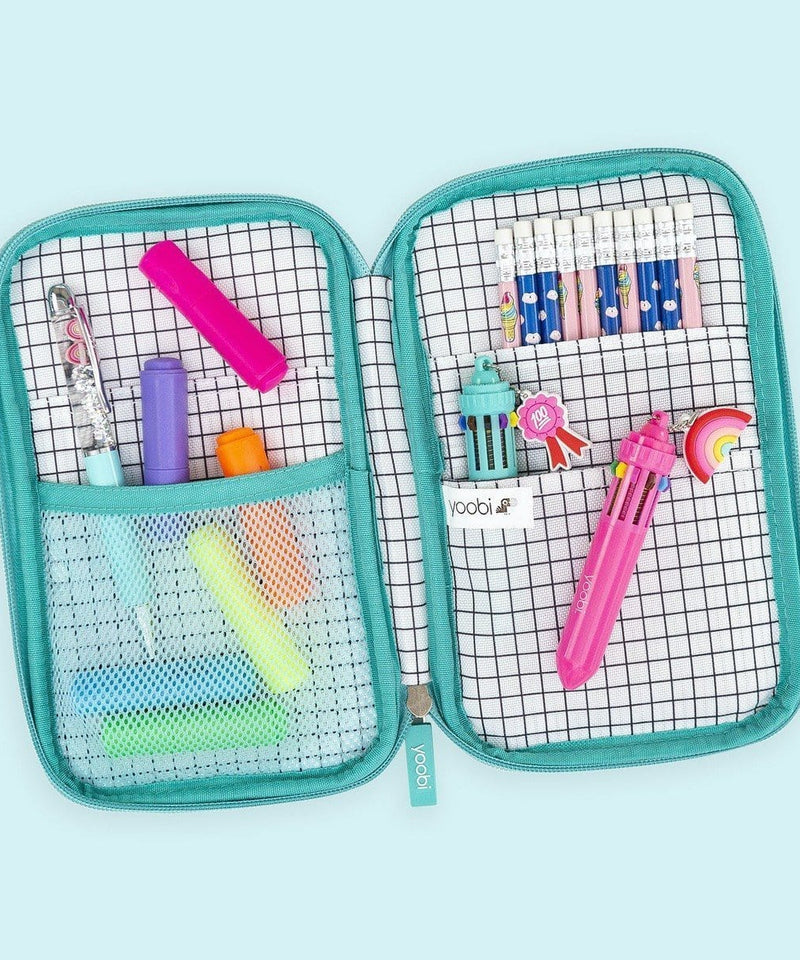 Pencil Organizer - Grid Rainbow Stripe