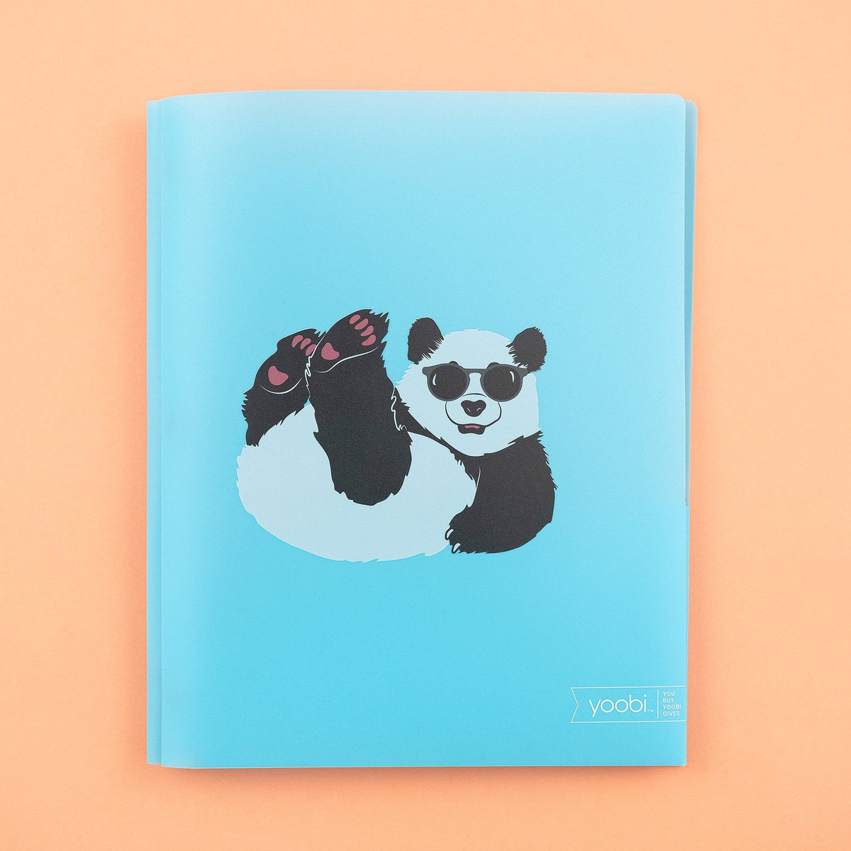 Poly Folder with Prongs - Blue Playful Panda
