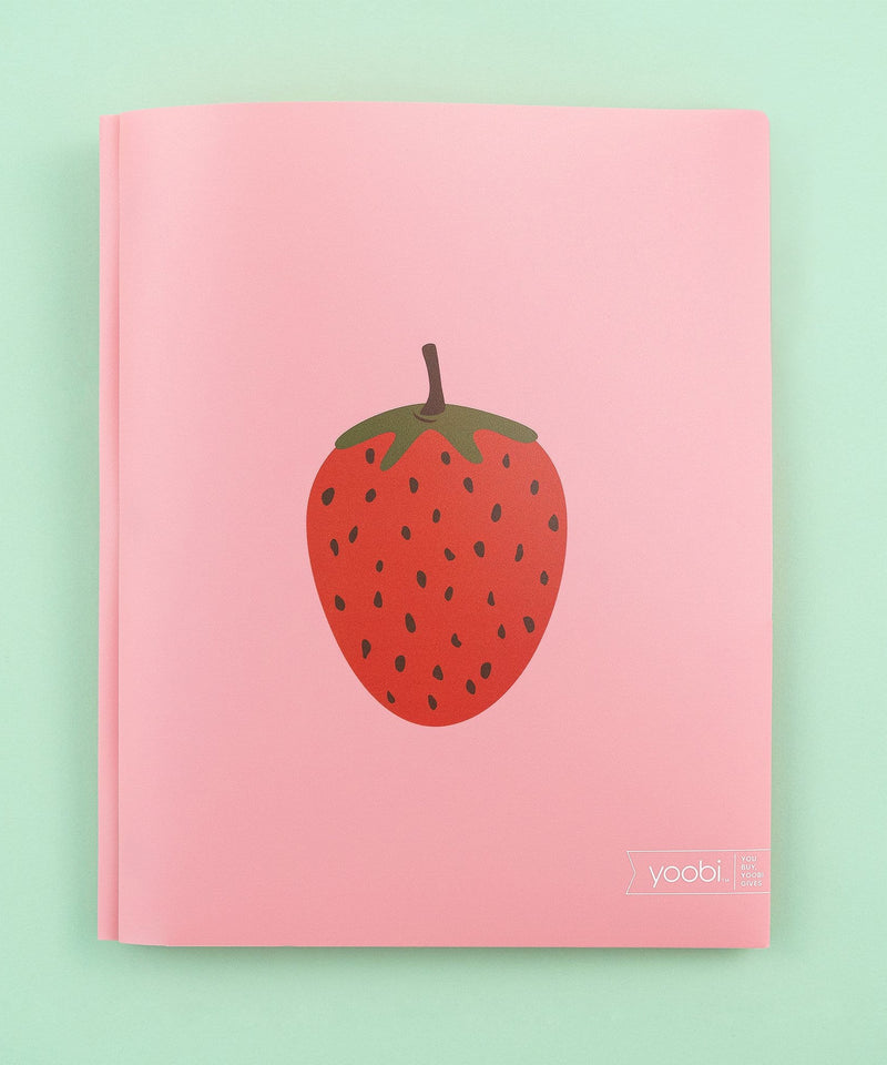 Poly Folder with Prongs - Blush Strawberry