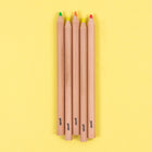 Jumbo Highlighter Pencils, 5 Pack - Multicolor