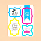 Sticker Photo Frames, 2 Sheets - Multicolor