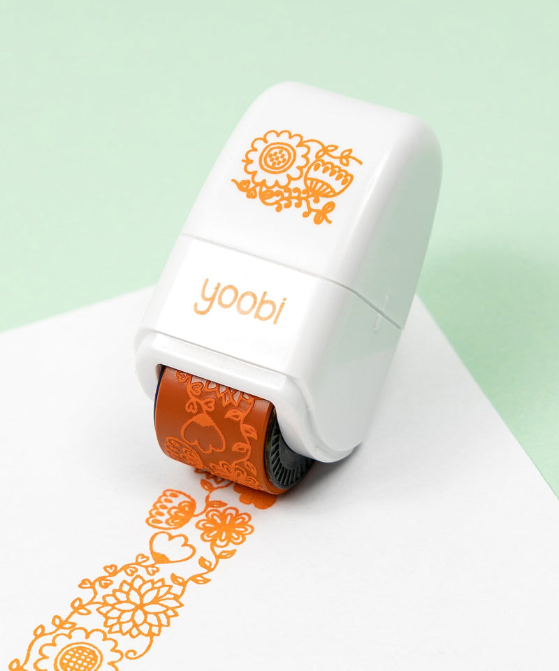 Flowers Stamp Roller - Orange