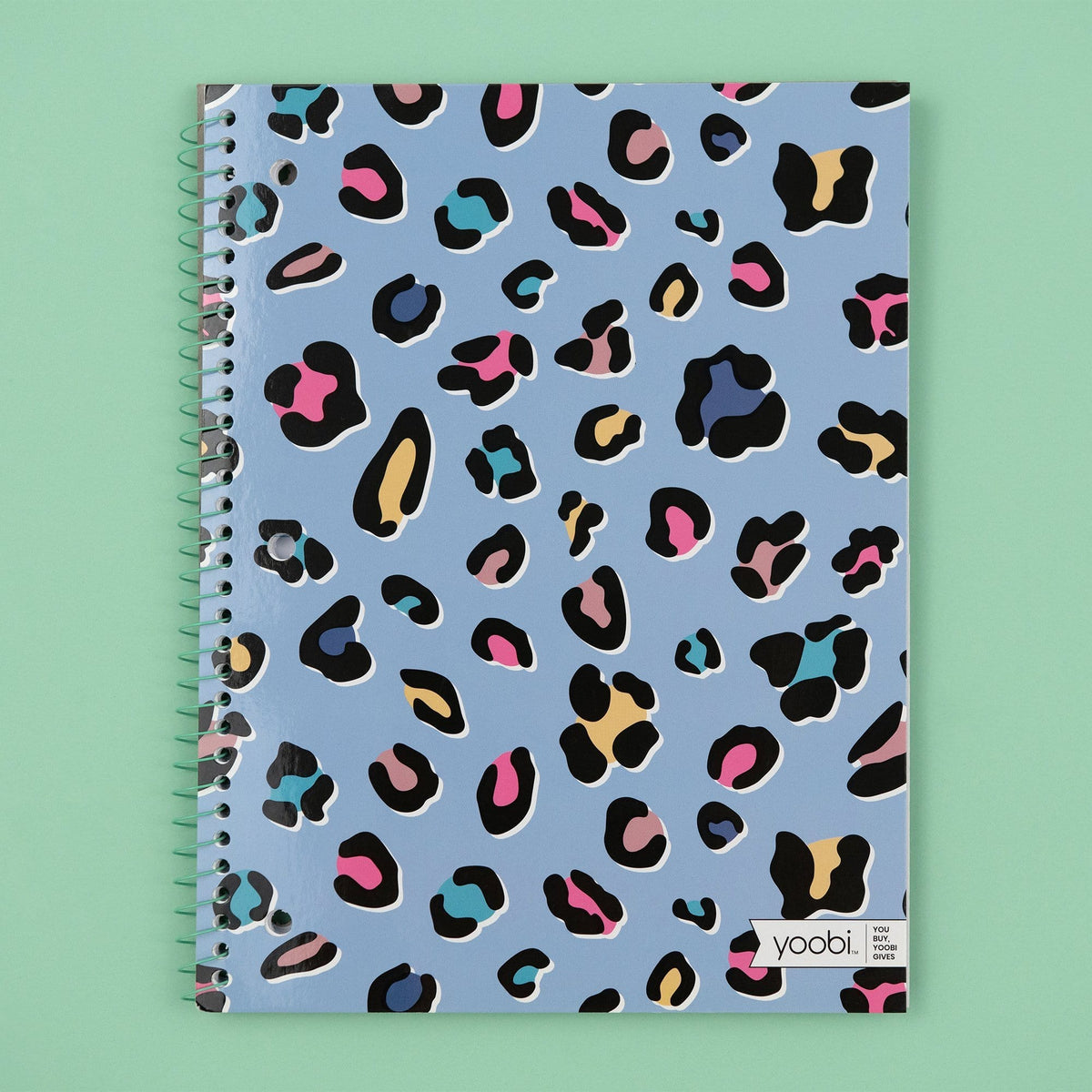 Spiral Notebook, College Ruled - Cheetah Print - Yoobi