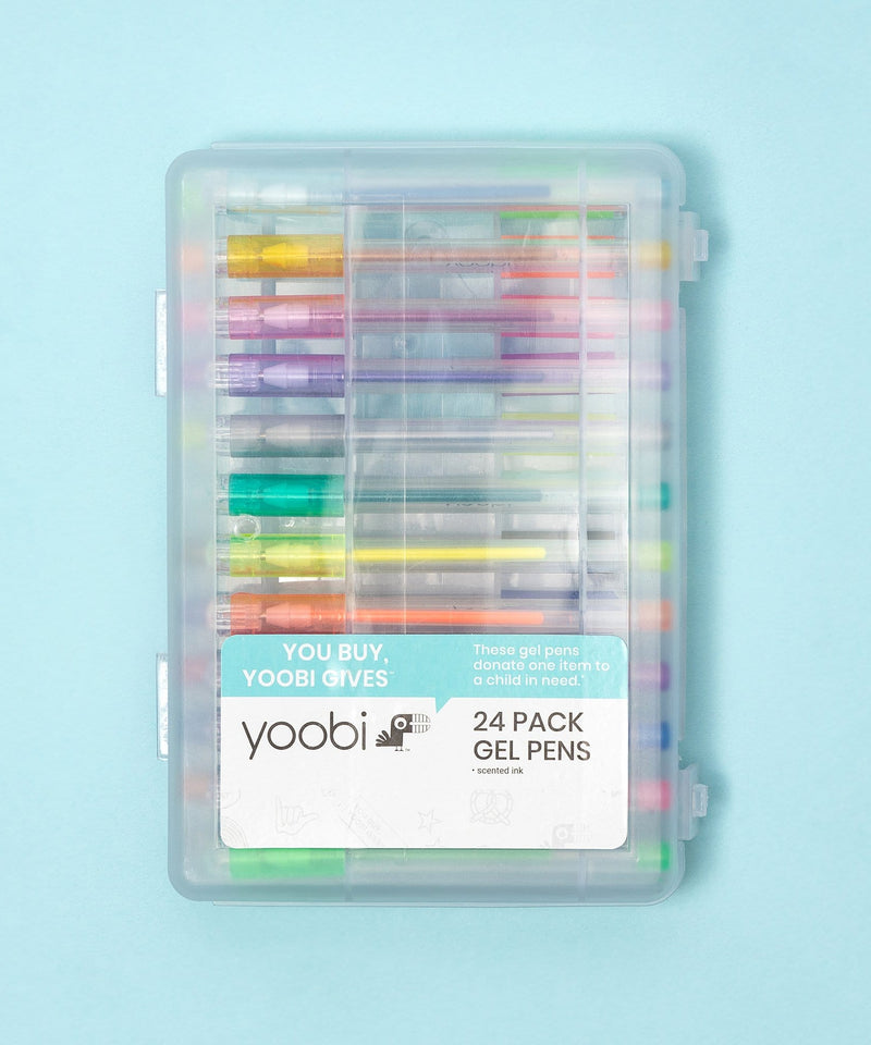 Mini Gel Pens, 24 Pack - Neon Multicolor