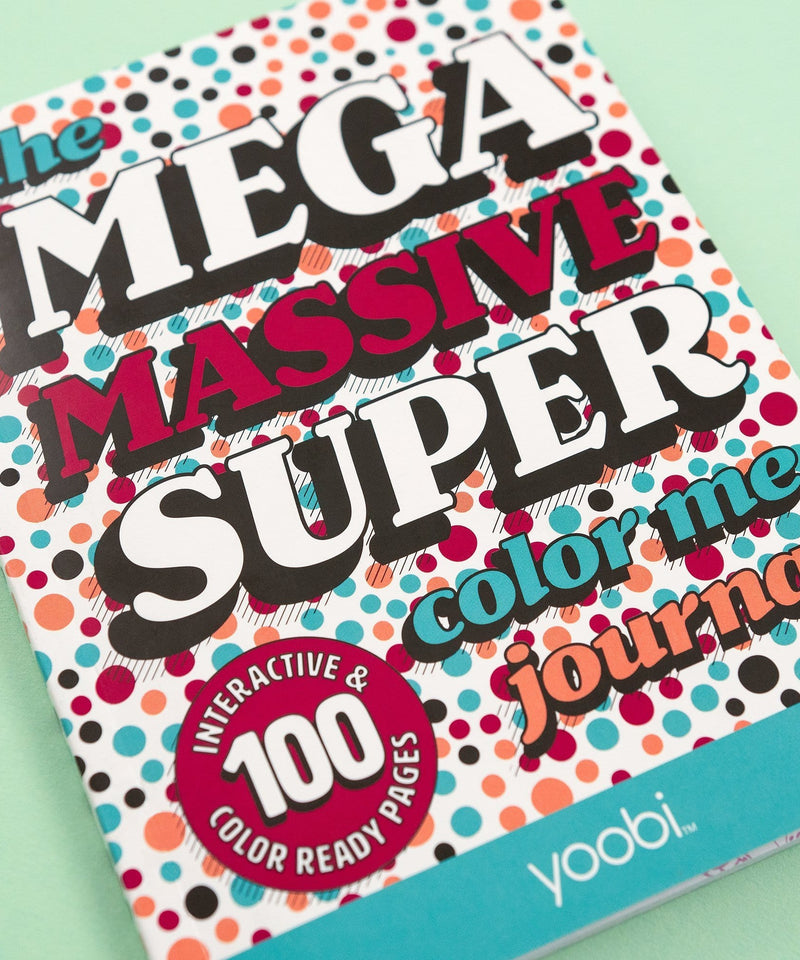 The Mega Massive Super Color Me Journal