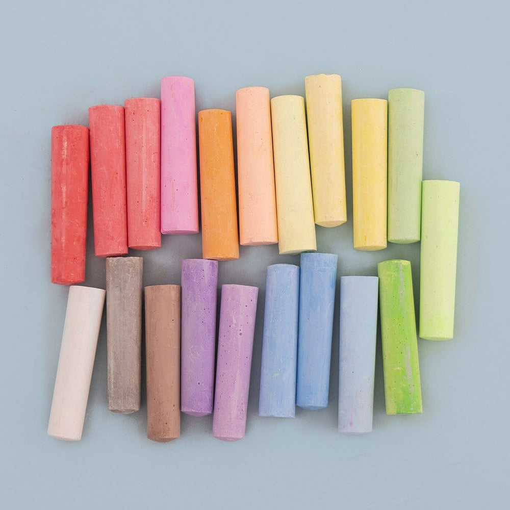 Washable Sidewalk Chalk, 20 Pack - Multicolor