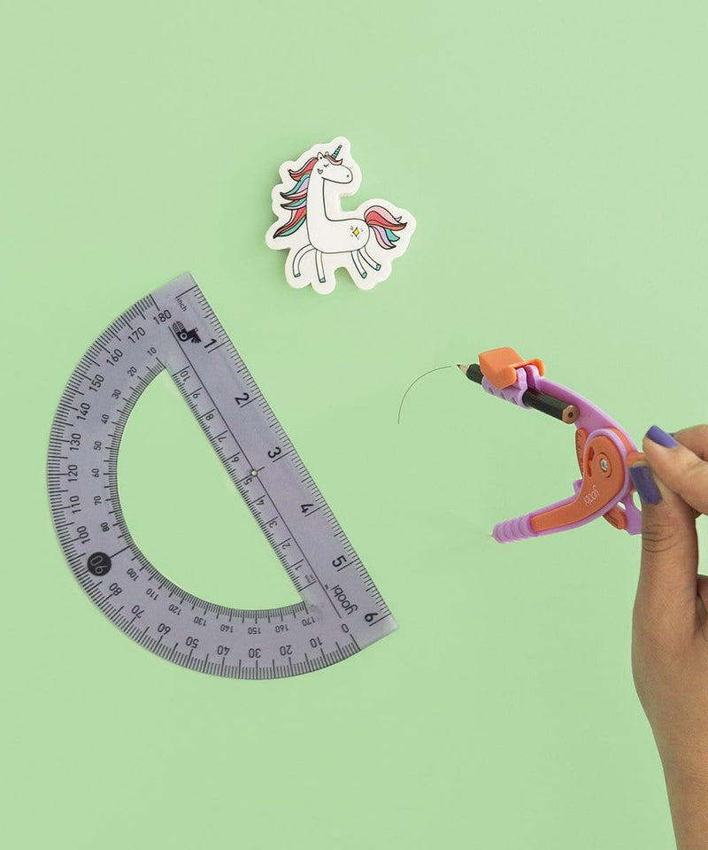 Compass And Protractor Kit - Unicorn