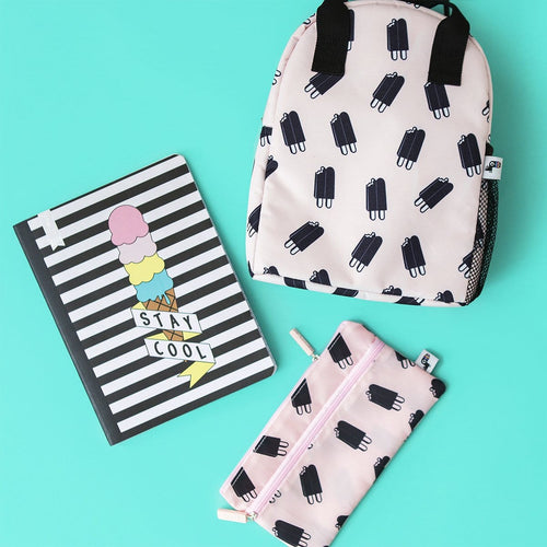 Double Handle Lunch Bag - Pink Double Ice Cream Repeat