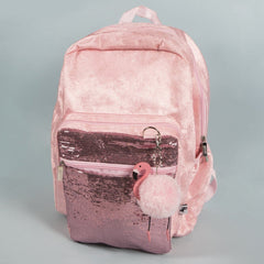 Standard Backpack - Pink Velvet