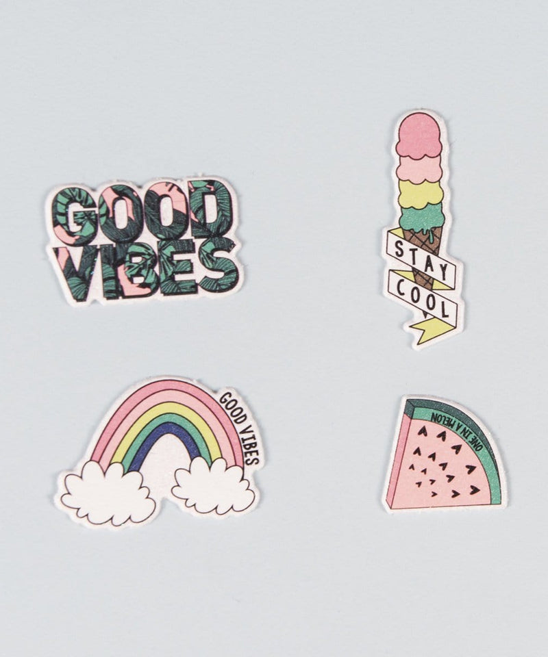 4 Pk Puffy Stickers - Good Vibes
