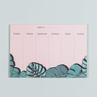 Weekly Calendar Notepad - Tropical
