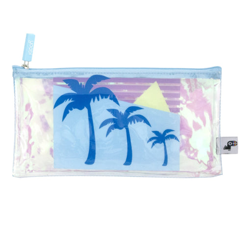 Zip Pouch - Iridescent Palm