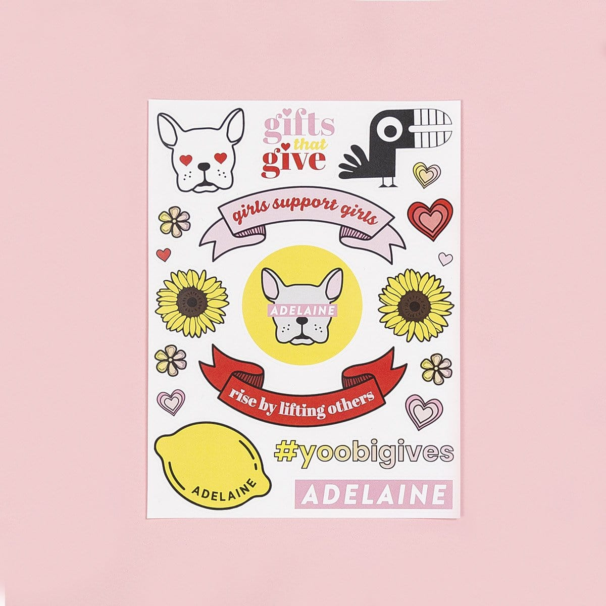 Yoobi x Adelaine Sticker Sheet
