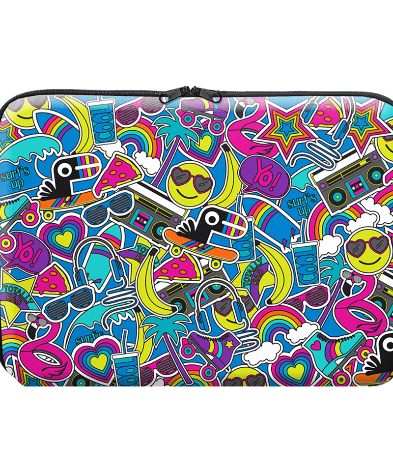 "13"" Laptop Case - Totally Rad Repeat"