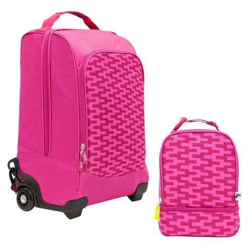 Trolley Backpack Bundle - Pink Zig Zag